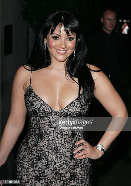 Martine McCutcheon during Simone Cowland Trust Benefit Launch Outside Arrivals at The Savoy in London Great Britain