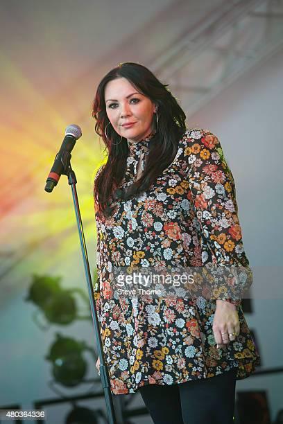 Martine McCutcheon of Stargazer performs at Cornbury Festival at Great Tew Estate on July 11 2015 in Oxford United Kingdom