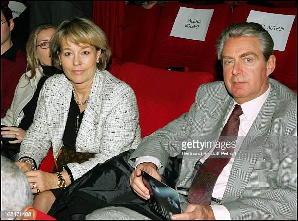 Martine Monteil and her husband at Film Premiere Of '36 Quai Des Orfevres' At PatheWepler in Paris