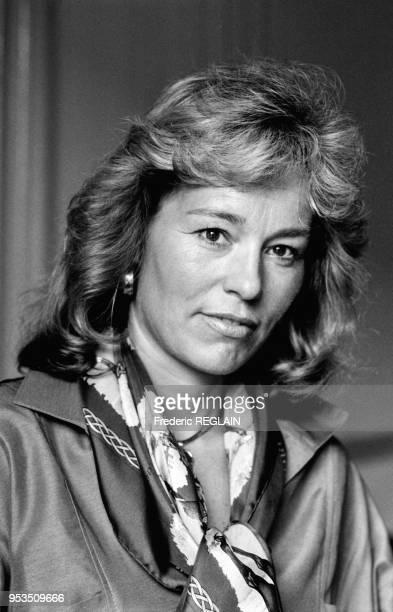 Martine Monteil commissaire de police à la tête des brigades des stupéfiants et du proxénétisme le 4 juin 1986 à Paris France