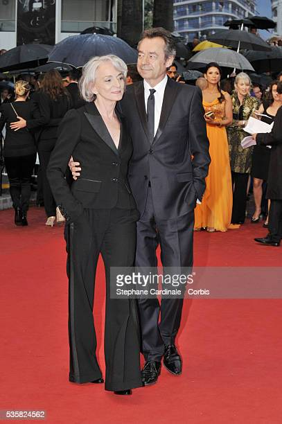 Martine Patier and Michel Denisot at the Closing Ceremony and the premiere for Therese Desqueyroux during the 65th Cannes International Film Festival
