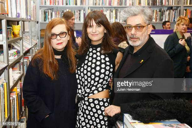 Martine Sitbon MarieAmelie Sauve and Marc Ascoli attend the launch and book signing of Mastermind Magazine as part of Paris Fashion Week Womenswear...