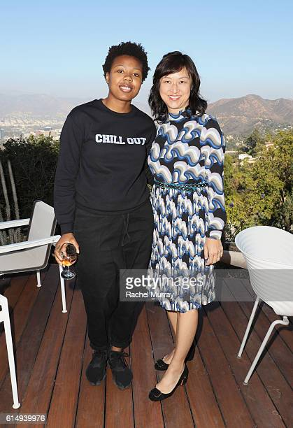 Martine Syms and Associate Curator of Contemporary Art at the Los Angeles County Museum of Art Christine Y Kim attend Visionary Women Presents Women...