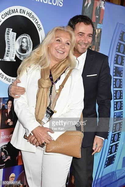 Martine Vidal and Bernard Montiel attend Henri Langlois 11th Award Ceremony At Maison de La Radio on April 11 2015 in Paris France