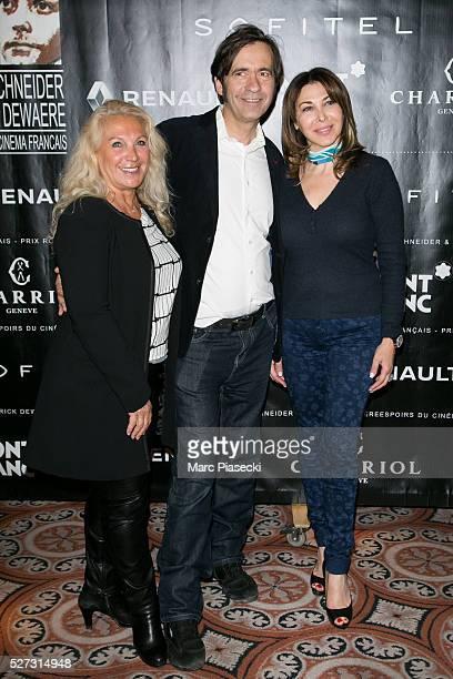 Martine Vidal Thierry Samitier and Eva Benhamou attend the 'Romy Schneider Patrick Dewaere' award ceremony 2016 at Hotel Scribe on May 2 2016 in...