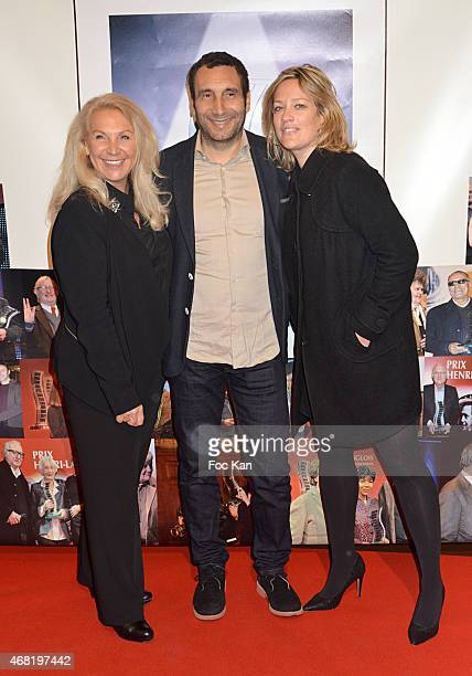 Martine Vidal Zinedine Soualem and Caroline Faindt attend the 'Henri Langlois' 10th Award Ceremony At Unesco In Paris on March 30 2015 in Paris France
