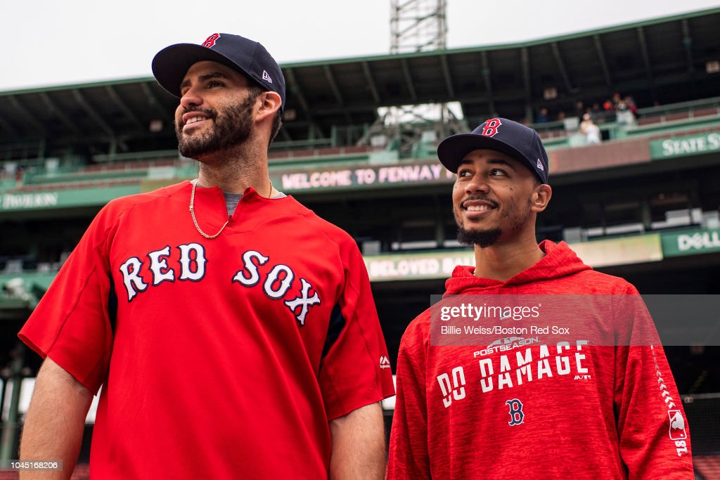 Boston Red Sox ALDS Workout : News Photo