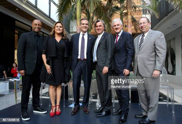 JR Martinez Executive Director of Infinite Hero Foundation Laurie Baker Los Angeles Mayor Eric Garcetti CoChief Executive Officer of Westfield...