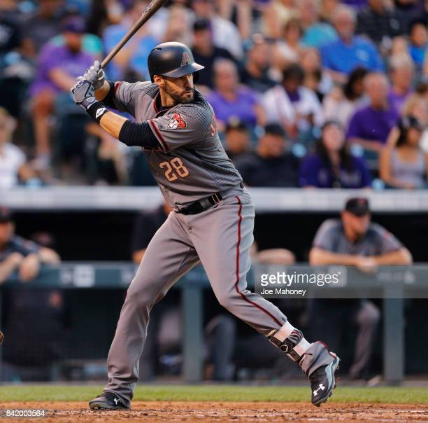 D Martinez of the Arizona Diamondbacks bats against the Colorado Rockies in the third inning at Coors Field on September 2 2017 in Denver Colorado