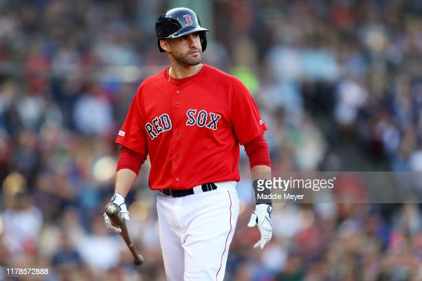 Martinez of the Boston Red Sox looks on during the sixth inning against the Baltimore Orioles at Fenway Park on September 29, 2019 in Boston,...