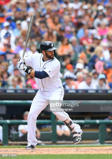 D Martinez of the Detroit Tigers bats during the game against the Toronto Blue Jays at Comerica Park on July 16 2017 in Detroit Michigan The Tigers...
