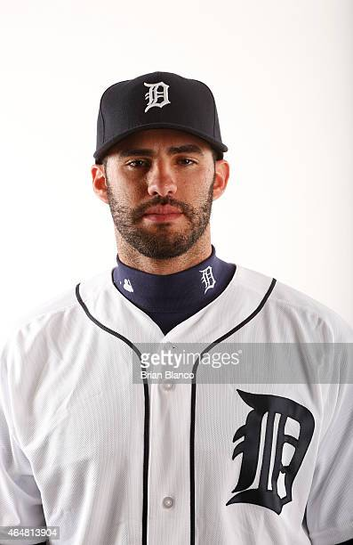 D Martinez of the Detroit Tigers poses for a photo during the Tigers' photo day on February 28 2015 at Joker Marchant Stadium in Lakeland Florida