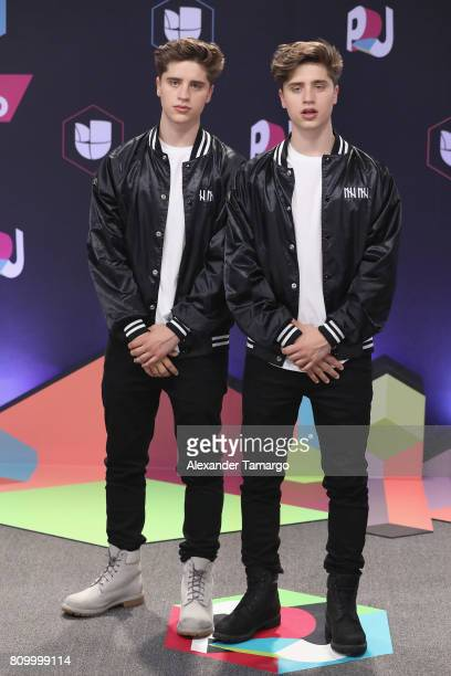 Martinez Twins attend the Univision's 'Premios Juventud' 2017 Celebrates The Hottest Musical Artists And Young Latinos ChangeMakers at Watsco Center...