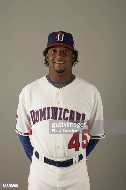 Martinez_Pedro of team Dominican Republic poses during a 2009 World Baseball Classic Photo Day on Monday March 2 2009 in Jupiter Florida