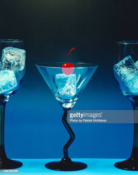 Martini glass with cherry