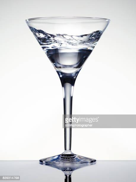 Martini Glass with swirling clear liquid inside