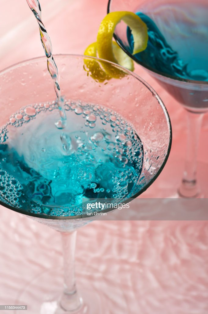 Martini Glasses in Water : Stock Photo