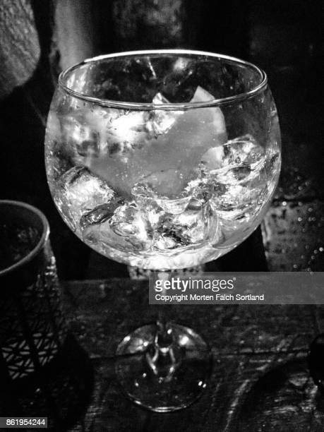 Martini in a wine glass