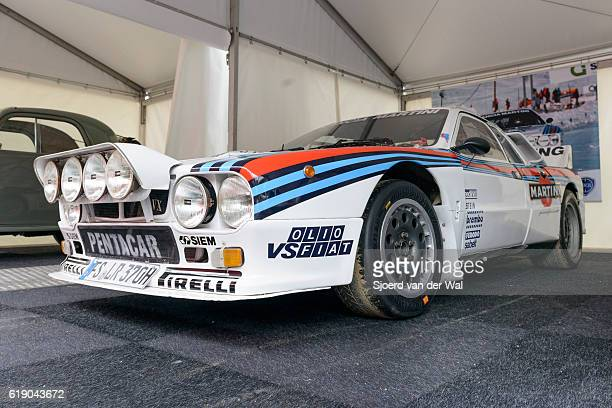 martini racing group b lancia 037 rally car - rally car stock photos and pictures