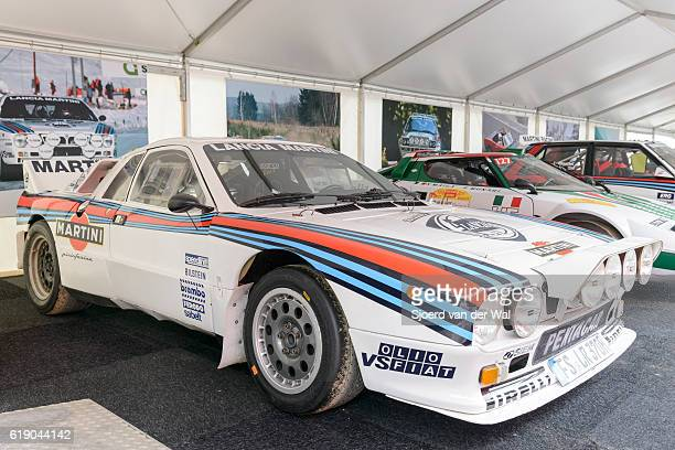 "martini racing group b lancia 037 rally car - ""sjoerd van der wal"" photos et images de collection"