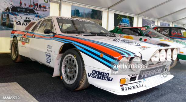 martini racing group b lancia 037 rally car - man made age stock pictures, royalty-free photos & images