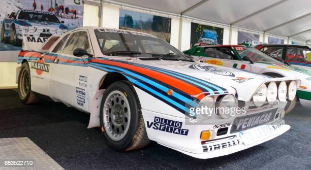 martini racing group b lancia 037 rally car - rally car racing stock pictures, royalty-free photos & images