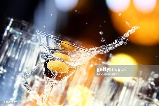 Martini refrescarse en un club nocturno