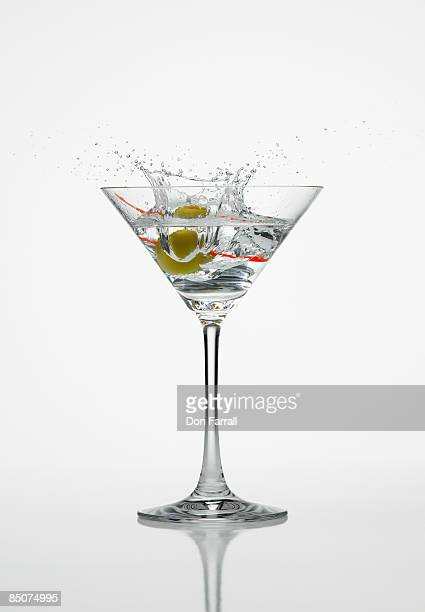 Martini splash white background