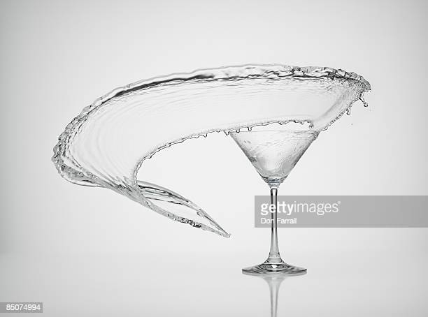 martini wave - martini glass stock pictures, royalty-free photos & images