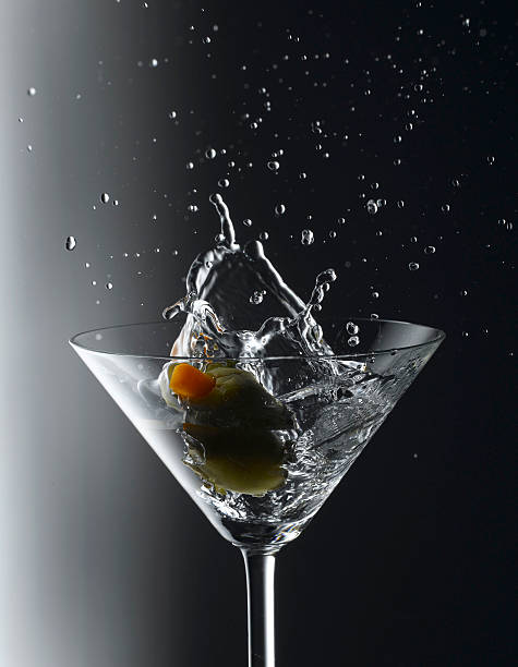 Martini with an olive splash