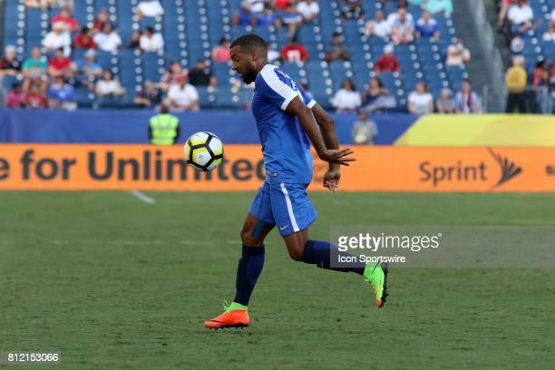 Martinique defender Antoine JeanBaptiste during the group stage match of the CONCACAF Gold Cup between Nicaragua and Martinique on July 08 2017...