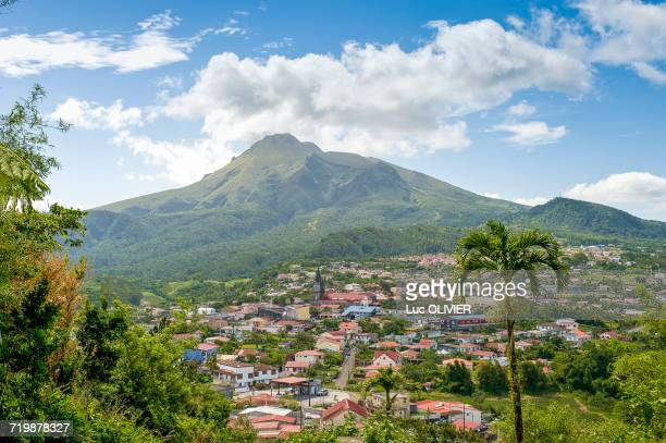 martinique, le morne-rouge, at the foot of the mount pelée - martinique stock photos and pictures