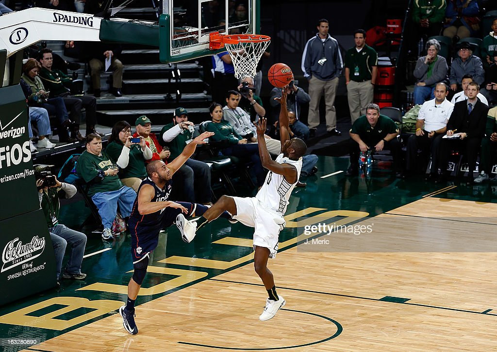 Martino Brock #0 of the South Florida Bulls shoots against the Connecticut Huskies during the game at the Sun Dome on March 6, 2013 in Tampa, Florida.