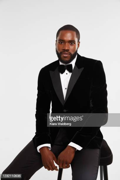 Martins Imhangbe is seen in his award show look for the 27th Annual Screen Actors Guild Awards on March 28, 2021 in London, England. Due to COVID-19...