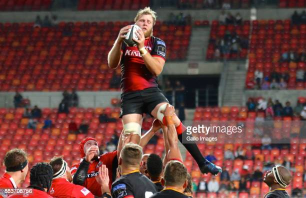 Martinus Burger of Southern Kings wins the lineout during the Guinness Pro14 match between Southern Kings and Edinburgh at Nelson Mandela Bay Stadium...