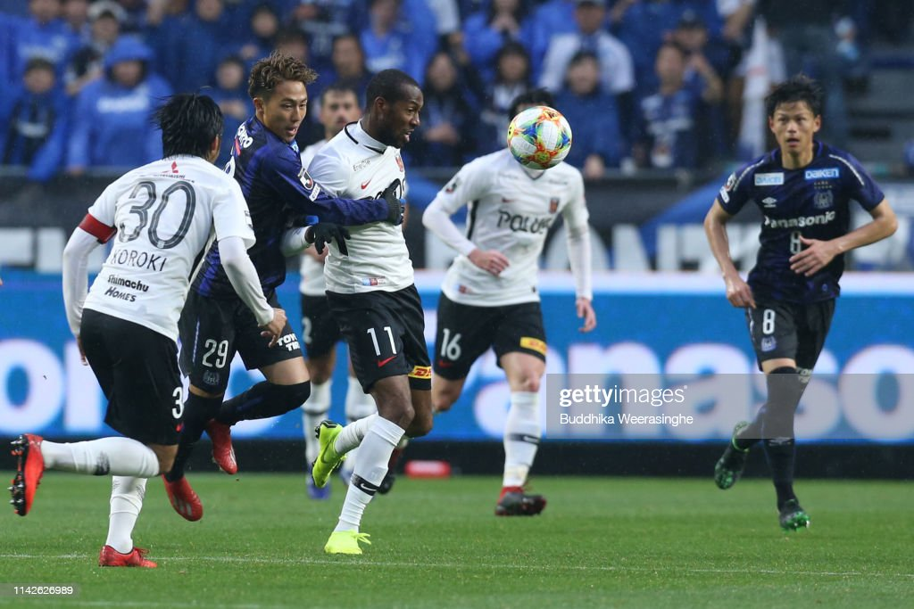 Martinus Of Urawa Reds And Leo Takae Of Gamba Osaka Compete For The News Photo Getty Images