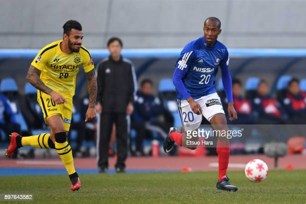 Martinus of Yokohama FMarinos and Ramon Lopes of Kashiwa Reysol compete for the ball during the 97th Emperor's Cup semi final match between Yokohama...