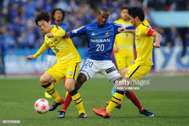 Martinus of Yokohama FMarinos in action during the 97th Emperor's Cup semi final match between Yokohama FMarinos and Kashiwa Reysol at Todoroki...
