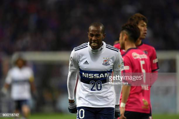 Martinus of Yokohama Fmarinos reacts during the 97th All Japan Football Championship final between Cerezo Osaka and Yokohama FMarinos at the Saitama...