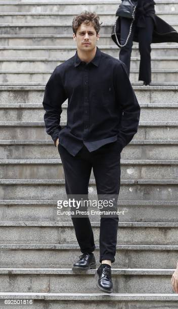 Martiño Rivas attends the funeral chapel for the fashion designer David Delfin at Dress Museum on June 4 2017 in Madrid Spain