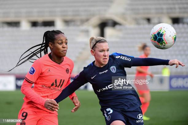 Martith MULLER PRIESSEN of Paris FC and Marie Antoinette KATOTO of PSG during the Division 1 match between Paris FC and Paris SaintGermain on...