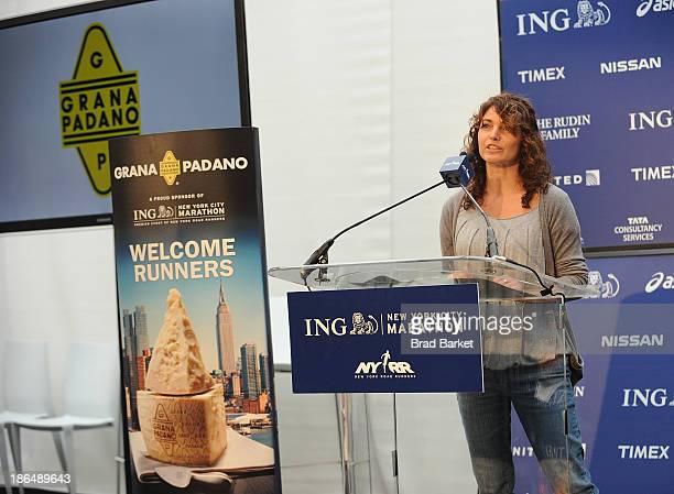 Martketing Manager of the Consorzio per la Tutela del Farmaggio Elisabetta Serraiotto attends the Grana Padano Events NYC MArathon Events on October...