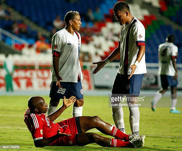 Martín Garcia of America de Cali reacts during a match between America de Cali and Union Magdalena as part of Torneo Postobon 2014 II at Pascual...