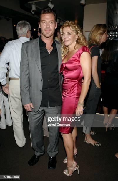 "Marton Csokas and Natasha Richardson during ""Asylum"" New York City Premiere - After Party at Michaels in New York City, New York, United States."