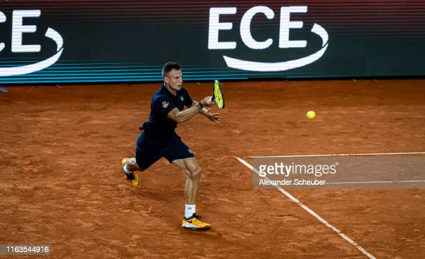 Marton Fucsovics of Hungary in action during the Hamburg Open 2019 at Rothenbaum on July 22 2019 in Hamburg Germany