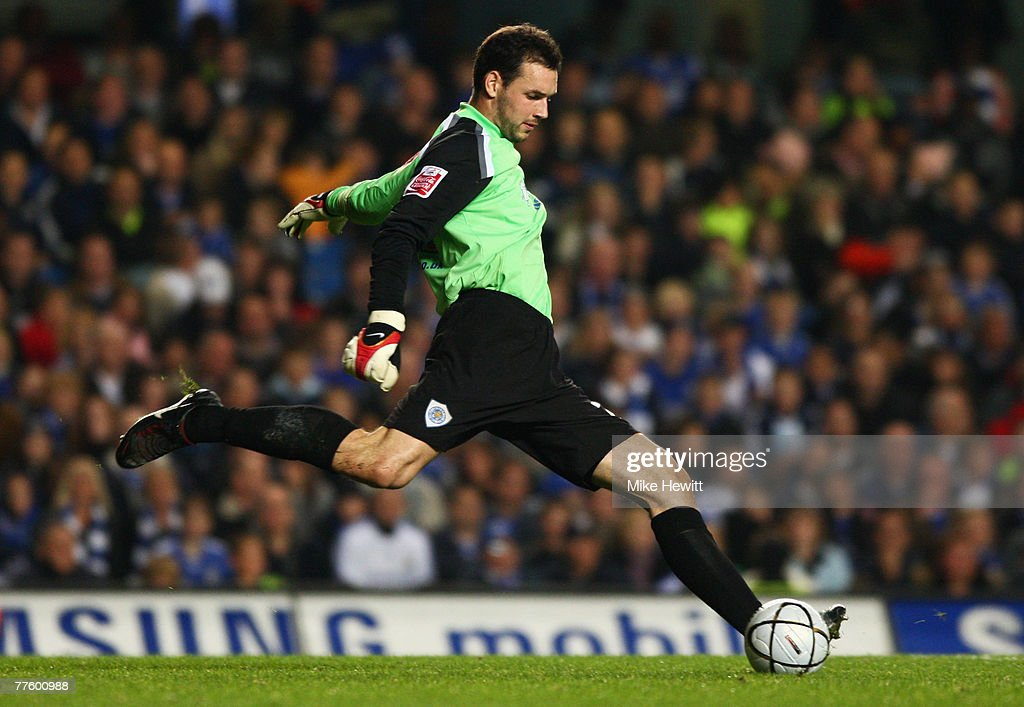Marton Fulop of Leicester City in action during the Carling Cup Fourth Round match between Chelsea and Leicester City at Stamford Bridge on October 31, 2007 in London, England.