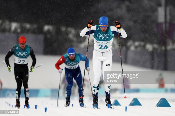 Martti Jylhae of Finland competes during the CrossCountry Men's Sprint Classic Quarterfinal on day four of the PyeongChang 2018 Winter Olympic Games...