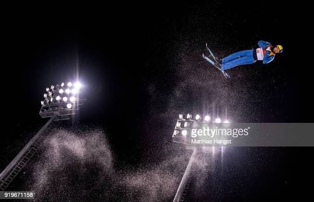 Martti Jylhae of Finland trains prior to the Freestyle Skiing Men's Aerials Qualification on day eight of the PyeongChang 2018 Winter Olympic Games...