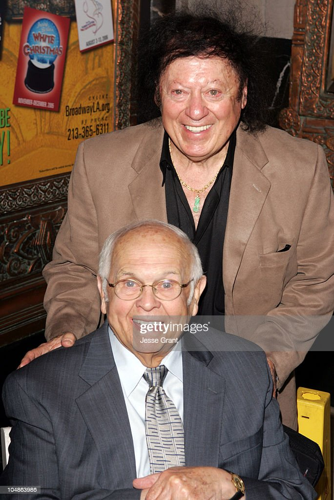 Marty Allen and Johnny Grant during Linda Hopkins Honored with a Star on the Hollywood Walk of Fame at The Pantages Theatre in Hollywood, California, United States.