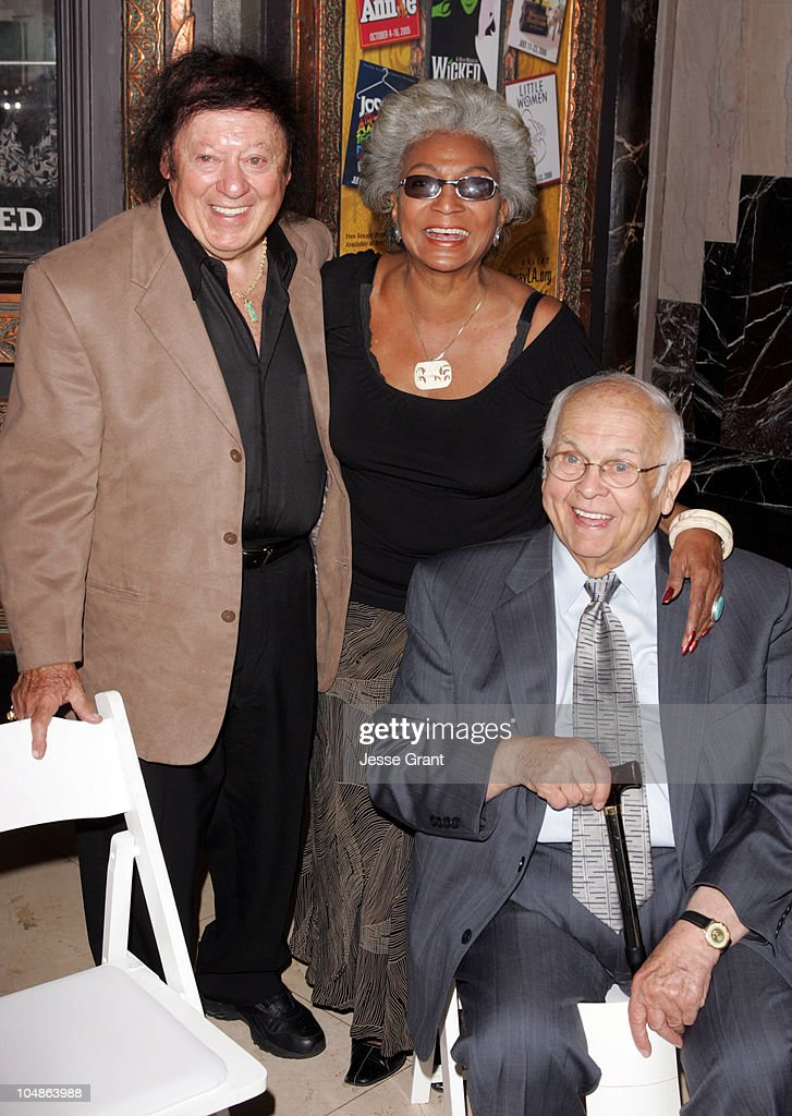 Marty Allen, Nichelle Nichols and Johnny Grant during Linda Hopkins Honored with a Star on the Hollywood Walk of Fame at The Pantages Theatre in Hollywood, California, United States.